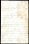 Arthur McKinstry to Aunt Eliza
