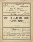 Only to Speak One Short Loving Word