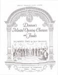 Denison's Minstrel Opening Choruses and Finale's