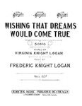 Wishing that dreams would come true