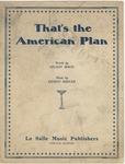 That's The American Plan