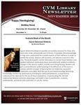 November 2019 CVM Library Newsletter by Mississippi State University