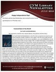 July 2018 CVM Library Newsletter by Mississippi State University