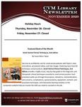 November 2020 CVM Library Newsletter