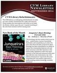 September 2014 CVM Library Newsletter