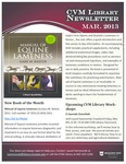 March 2013 CVM Library Newsletter