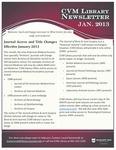 January 2013 CVM Library Newsletter