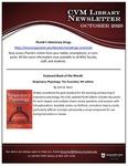 October 2020 CVM Library Newsletter by Mississippi State University