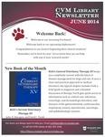 June 2014 CVM Library Newsletter
