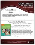 April 2017 CVM Library Newsletter