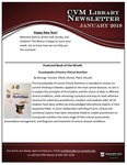 January 2019 CVM Library Newsletter by Mississippi State University