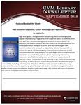 September 2018 CVM Library Newsletter