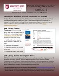 April 2012 CVM Library Newsletter