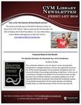 February 2018 CVM Library Newsletter