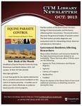 December 2013 CVM Library Newsletter