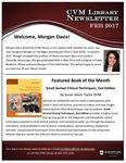 February 2017 CVM Library Newsletter
