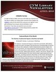 April 2018 CVM Library Newsletter by Mississippi State University