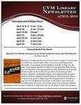 April 2019 CVM Library Newsletter