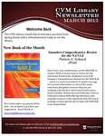 March 2015 CVM Library Newsletter