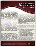 September 2012 CVM Library Newsletter