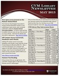 May 2013 CVM Library Newsletter