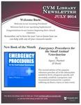 July 2014 CVM Library Newsletter