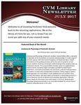 July 2017 CVM Library Newsletter