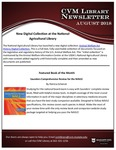 August 2018 CVM Library Newsletter by Mississippi State University
