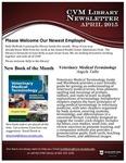 April 2015 CVM Library Newsletter