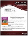 December 2017 CVM Library Newsletter