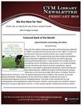 February 2019 CVM Library Newsletter by Mississippi State University