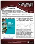 December 2014 CVM Library Newsletter