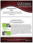 September 2019 CVM Library Newsletter