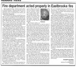 Improve fire protection by studying Eastbrooke fire