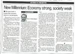 New Millennium: Economy strong, society weak