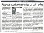 Flag war needs compromise on both sides