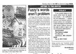 Fuzzy's words aren't problem