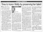 Time to honor Welty by preserving her talent