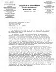 Letter, Alexander M. Haig, Secretary of State, from David R. Bowen, February 26, 1982