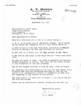 Letters Exchanged Between Constituent, A. V. Henry and David R. Bowen, September 1973