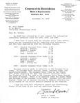 Letter, Bill Sostes from David R. Bowen, September 29, 1980