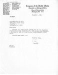 Letter, David R. Bowen from Congressman Clement J. Zablocki with Forwarded Documents from U. S. Department of Agriculture, December 1, 1982