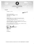 Letters and Documents exchanged between Jim Buck Ross, David Bowen, Del Clawson, and B. F. Smith, November 1974