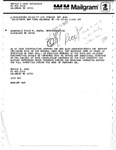 Mailgram and Letter Exchange between Marvin E. Cash and David R. Bowen, March 1977