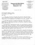 Letter, Congressman Thomas S. Foley from David R. Bowen, January 30, 1981