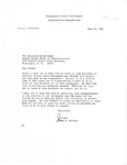 Letters Exchanged Between Mississippi State University President, John D. McComas and Congressman David R. Bowen, June 1982