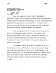 Letter Draft, Secretary of Agriculture, John R. Block from David R. Bowen, March 19, 1982