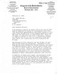 Letter, Congressman Jamie Whitten from Congressman John Breaux, February 21, 1980