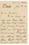 Julia Grant to Grandma, July 10, 1889