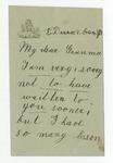 Ulysses S. Grant to Granma, December 8, 1889